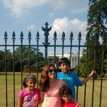 In front of the White House.