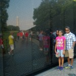 At the Vietnam War Memorial.